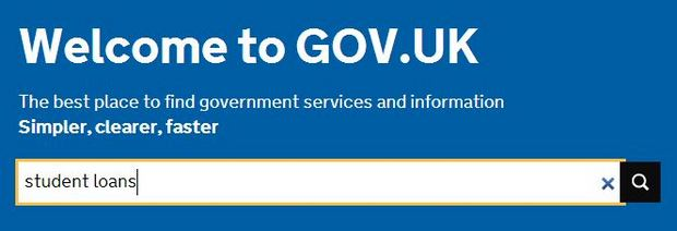 GOV.UK search box