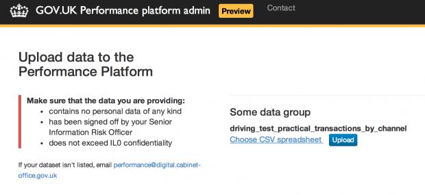New admin app for the Performance Platform