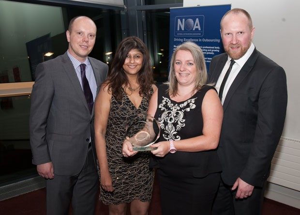 The NHS Blood and Transplant team - Tony Evans, Shraddha Parekh, Eileen Bays, Ryan Creighton (left to right)