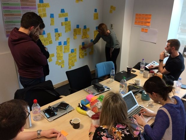 Service manual team analysing user research