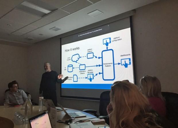 Urmy explaining how the Performance Platform works
