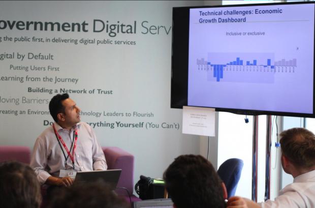 Hiren Bhimjiyani demonstrates the Economic Growth dashboard