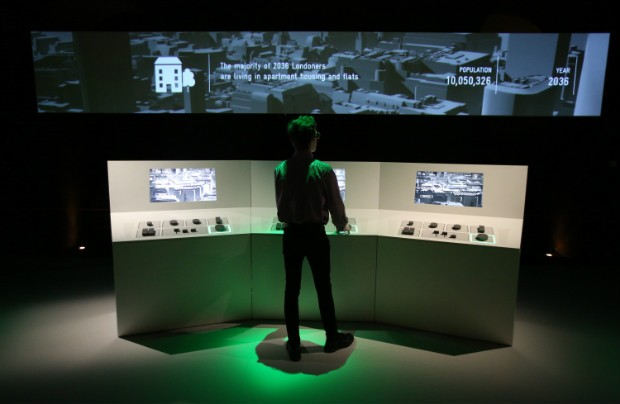 The Situation Room at Data Big Bang exhibition