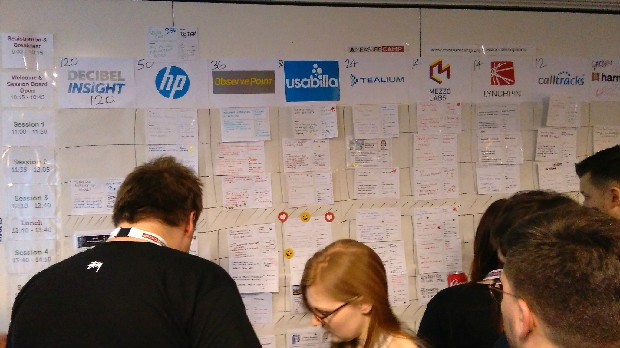 MeasureCamp session board