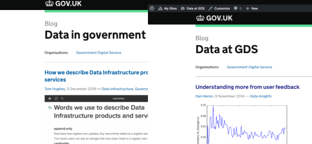 Data at GDS and Data in government blogs