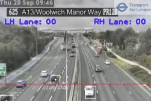 CCTV footage of a motorway