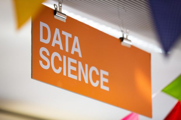 A sign reading 'data science'