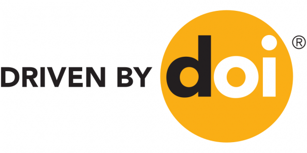 """Driven by DOI"" - logo of the DOI standard"